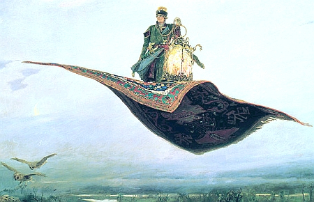 Detail from Riding a Flying Carpet, by Viktor Vasnetsov, 1880